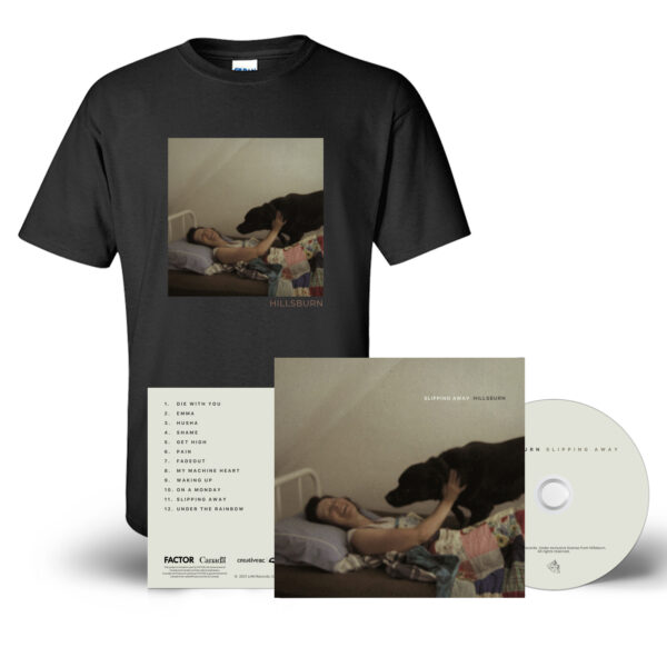 Slipping Away CD + T-Shirt Bundle